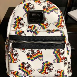 Mickey Mouse Rainbow Print Backpack (Loungefly)